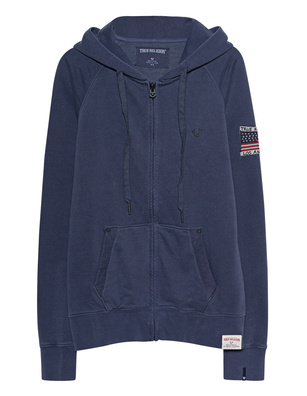 TRUE RELIGION Hooded Zipper Blue