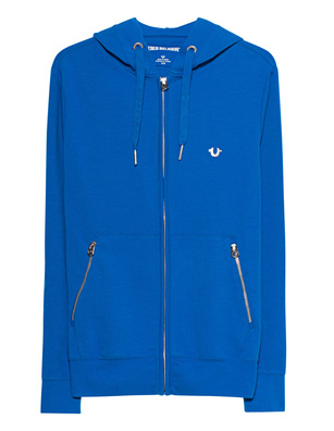 TRUE RELIGION Cotton Zip Blue