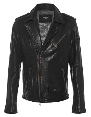 TRUE RELIGION Biker Backprint Black