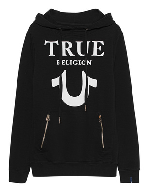 TRUE RELIGION Hoodie Puffy Black