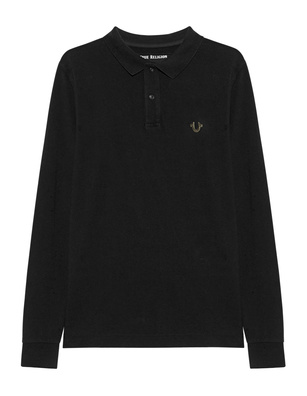 TRUE RELIGION Polo Longsleeve Black