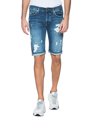TRUE RELIGION Rocco Shorts Destroyed Blue