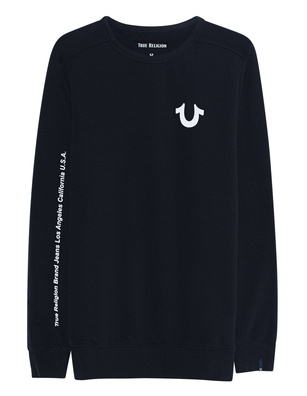 TRUE RELIGION Crew Reflective Print Black