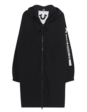 TRUE RELIGION Printed Hood Logo Black