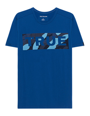 TRUE RELIGION Block Camo Royal Blue