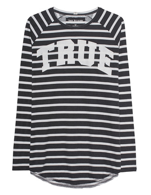 TRUE RELIGION Block Stripes Longsleeve Anthracite
