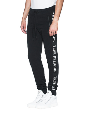 TRUE RELIGION Stripe Wording Black