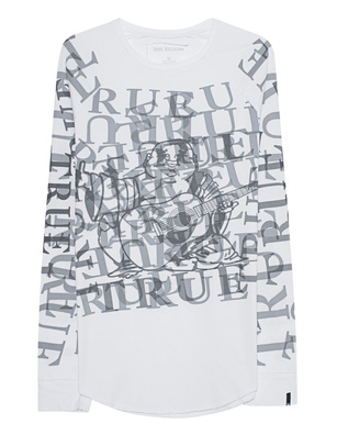 TRUE RELIGION Allover Print Longsleeve White