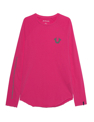 TRUE RELIGION Reflective Logo Berry Pink