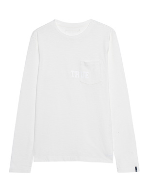 TRUE RELIGION Chest True Logo Off-White