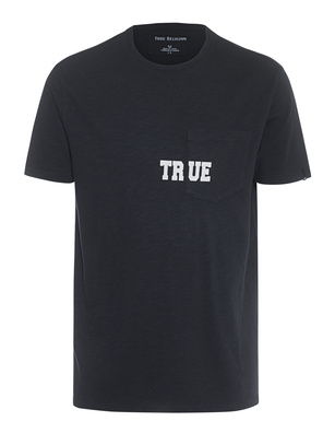 TRUE RELIGION  Pocket Logo Black