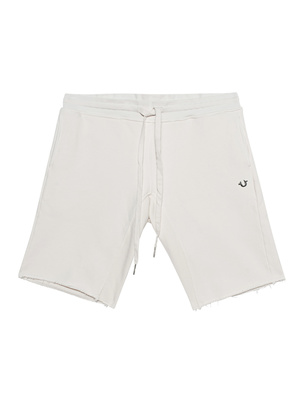 TRUE RELIGION Short Open Hem Milky White
