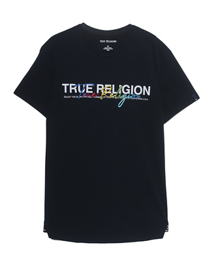 TRUE RELIGION Crewneck Colorful Stitching Black