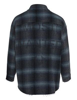 TRUE RELIGION Flannel Most Wanted Checked Blue