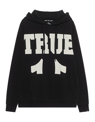 TRUE RELIGION Logo Hooded Black