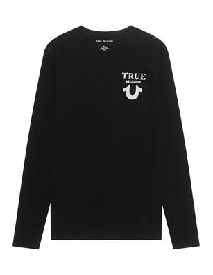 TRUE RELIGION Logo Back Black