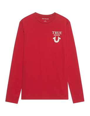 TRUE RELIGION Logo Back Red