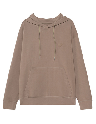 TRUE RELIGION Double Face Hood Brown