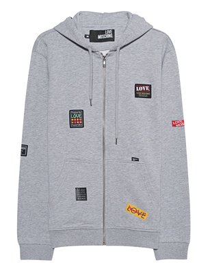 LOVE Moschino Zip Patches Light Grey