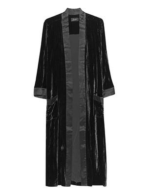 JADICTED Silk Kimono Black