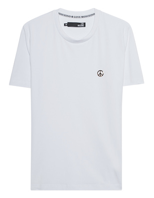 LOVE Moschino Logo Peace White