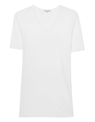 Cotton Citizen Classic V Neck White