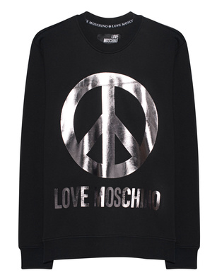 LOVE Moschino Logo Peace Silver