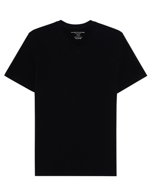 Majestic Filatures  Vneck Deluxe Cotton Black