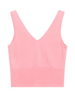 CRUSH. Cropped Bubblegum Pink