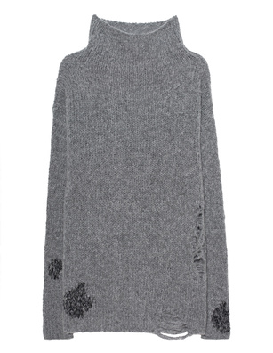 THOM KROM Knit Destroyed Grey