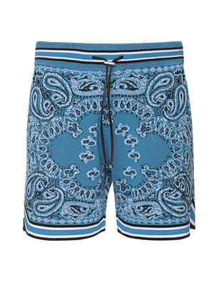 Amiri Bandana Shorts Blue