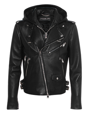 JACOB LEE Biker Leather Black
