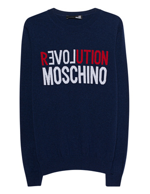 LOVE Moschino Knit Revolution Blue