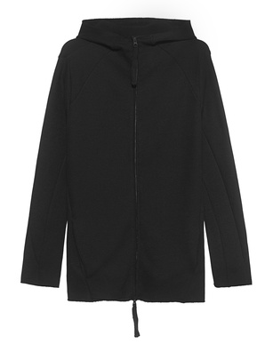 THOM KROM Zip Hood Long Black