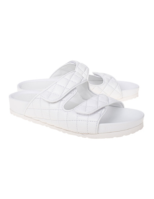 PAO PIANO ZERO Quilted Sandals Off White