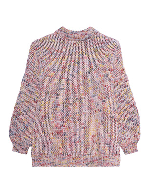 FINE EDGE Round Neck Knit Multicolor
