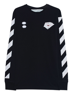 OFF-WHITE C/O VIRGIL ABLOH Longsleeve Diag Black