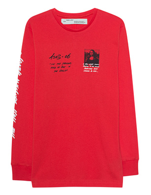 OFF-WHITE C/O VIRGIL ABLOH Longsleeve Mona Lisa Red