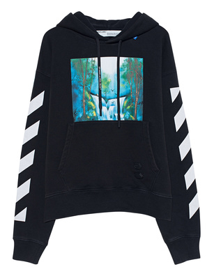 OFF-WHITE C/O VIRGIL ABLOH Hoodie Waterfall Oversized Black