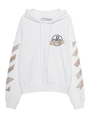 OFF-WHITE C/O VIRGIL ABLOH Hoodie Oversized Tape Arrows White