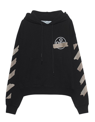 OFF-WHITE C/O VIRGIL ABLOH Hoodie Oversized Tape Arrows Black