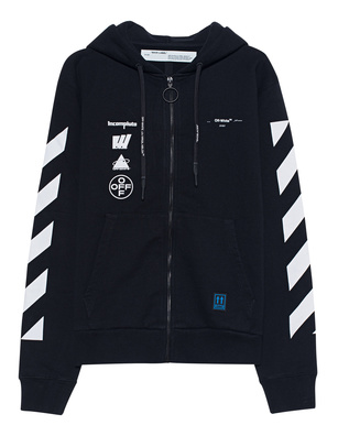 OFF-WHITE C/O VIRGIL ABLOH Hoody Zip Mariana Black