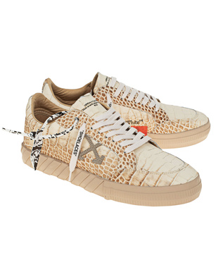 OFF-WHITE C/O VIRGIL ABLOH Croco Pattern Low Vulc Beige