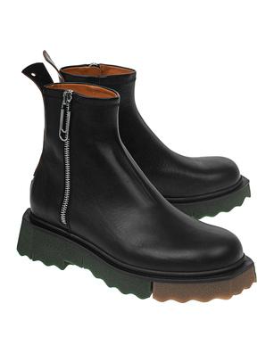 OFF-WHITE C/O VIRGIL ABLOH Sole Zip Leather Black