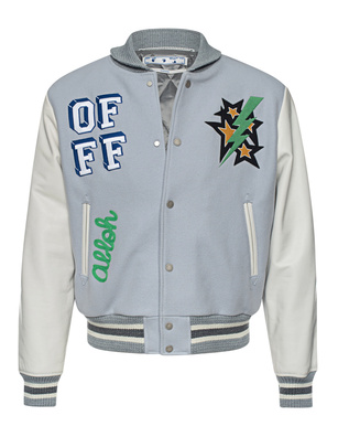 OFF-WHITE C/O VIRGIL ABLOH Carryover Leather Varsity Green White