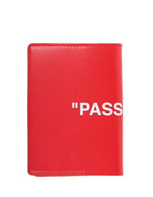 OFF-WHITE C/O VIRGIL ABLOH Passport Leather Red