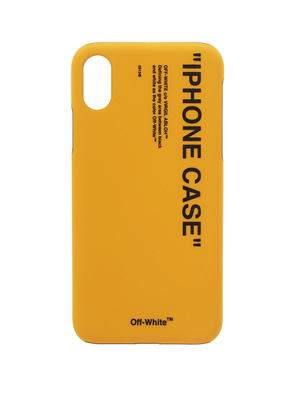 OFF-WHITE C/O VIRGIL ABLOH iPhone X Quote Yellow