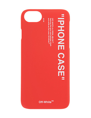 OFF-WHITE C/O VIRGIL ABLOH iPhone 8 Quote Red