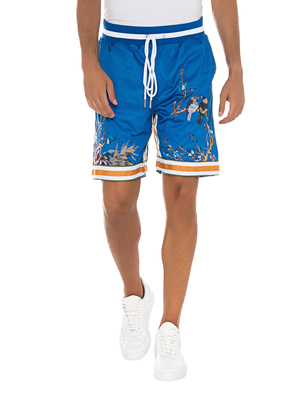 Only the Blind Short Flower Embroidery Blue