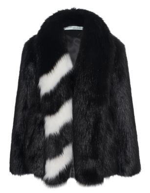 OFF-WHITE C/O VIRGIL ABLOH Fake Fur Stripe White Black